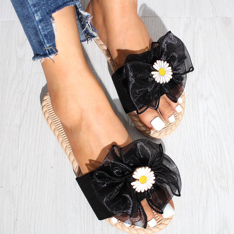 Flower Bowknot Fashion Flat Sandals Slippers