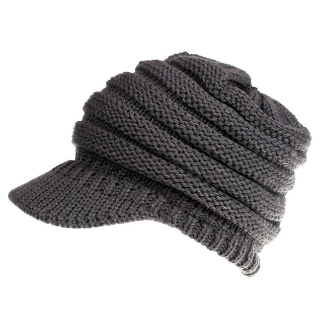 Knit Beanie That's PERFECT for Ponytails & Buns