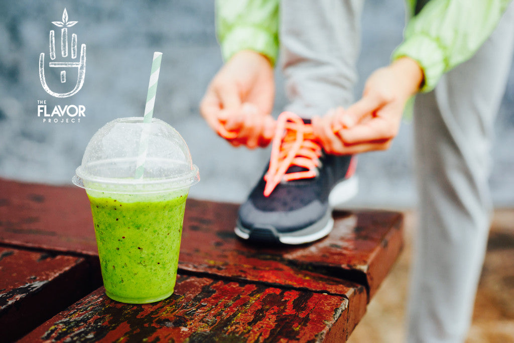 The Flavor Project's Signature Matcha-Colada Workout Smoothie - Good Anytime!!!