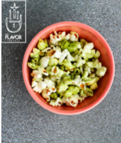 The Gourmet Couch Potato's Matcha Green Tea Popcorn