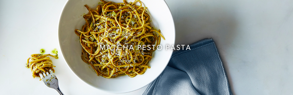 Yummy New Recipe - MATCHA PESTO PASTA