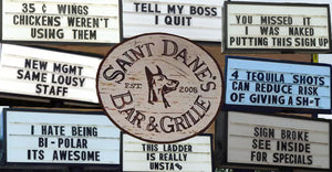 SAINT DANE'S Bar & Grill TOP 50 Funniest Marque Signs!