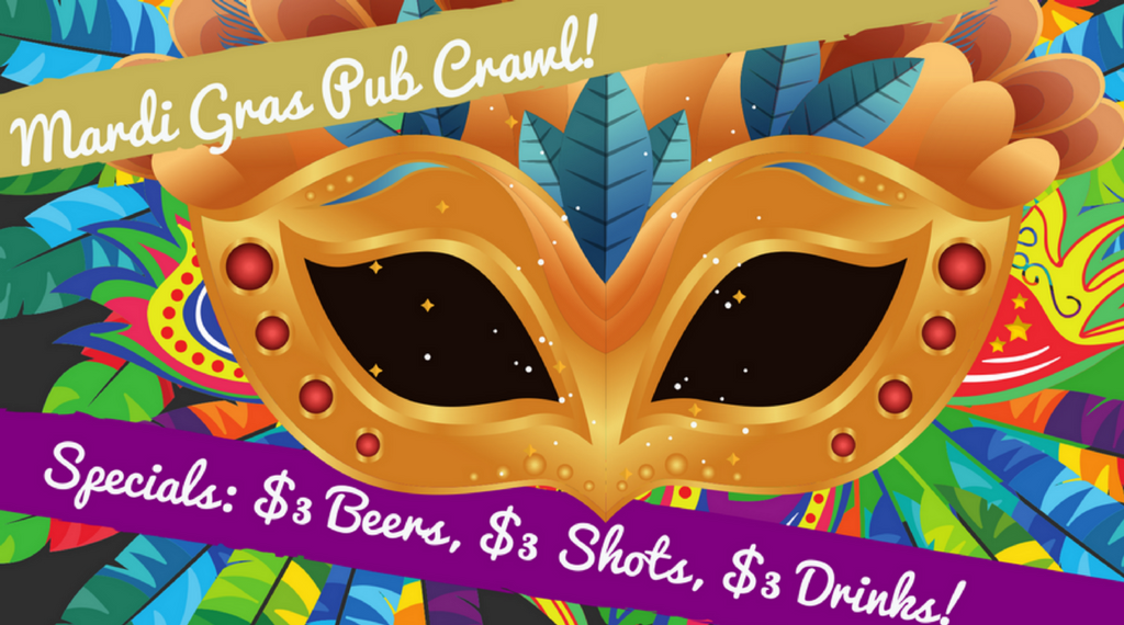 2nd Annual Mardi Gras Pub Crawl