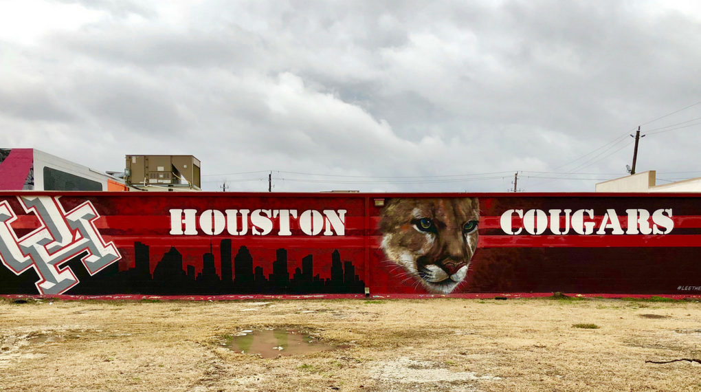 """Houston Cougars"" Graffiti"