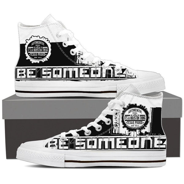 "Women's White High Top ""Be Someone"" Shoes"