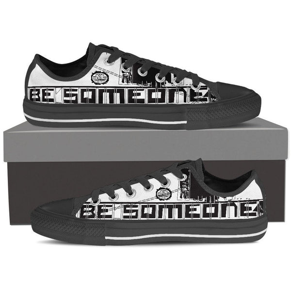 "Men's Black Low Top ""Be Someone"" Shoes"