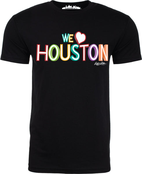 """WE LOVE HOUSTON"" by David Adickes Short Sleeve"