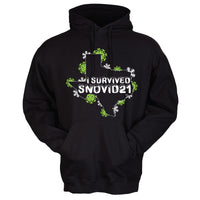 """I Survived SNOVID21"" Outline of Texas Shirt/Hoodies"