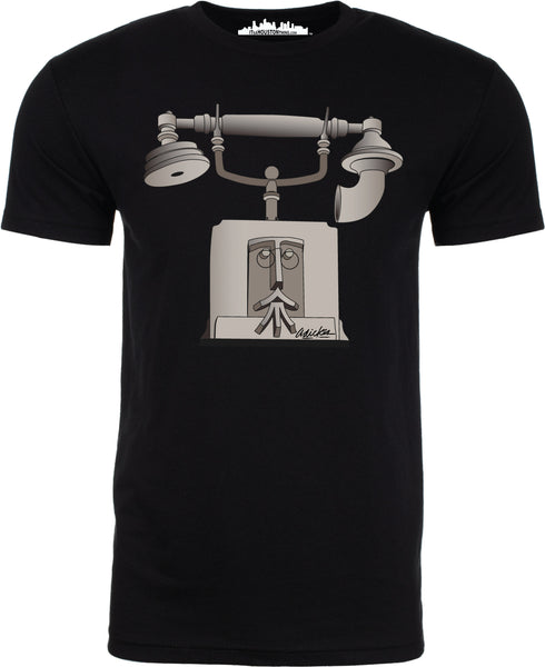 """French Telephone"" by David Adickes Short Sleeve"
