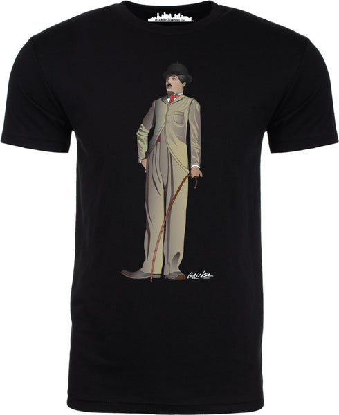 """Charlie Chaplin"" by David Adickes Short Sleeve"
