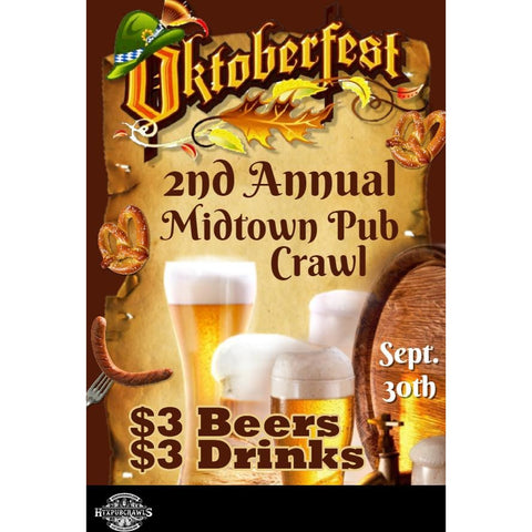 September 30th Midtown OktoberFest Pub Crawl (2nd Annual)