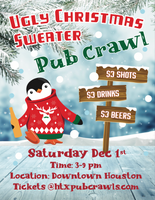 3rd Annual Ugly Christmas Sweater Pub Crawl - Downtown - Dec 1st