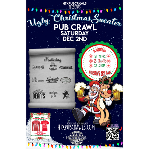 Dec. 2nd Downtown Ugly Christmas Sweater Pub Crawl (2nd Annual)