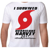 """I Survived Hurricane Harvey"" Shirt! 100% of profits will go to ""Houston Flood Relief Fund"""