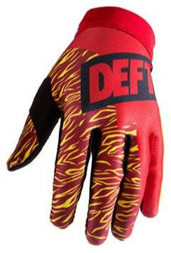 deft family motocross mtb bmx glove catalyst classic red front