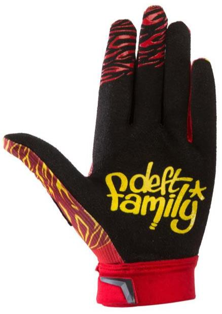deft family motocross mtb bmx glove catalyst classic red back