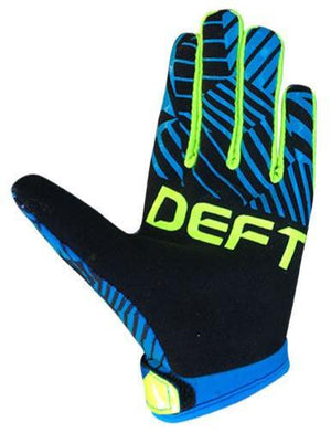 deft family motocross mtb bmx glove youth eqvlnt prospect black blue back
