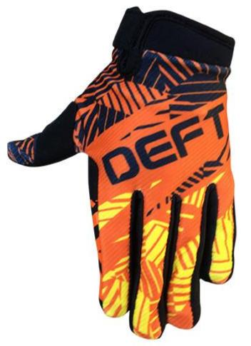 deft family motocross mtb bmx glove youth eqvlnt prospect orange yellow front