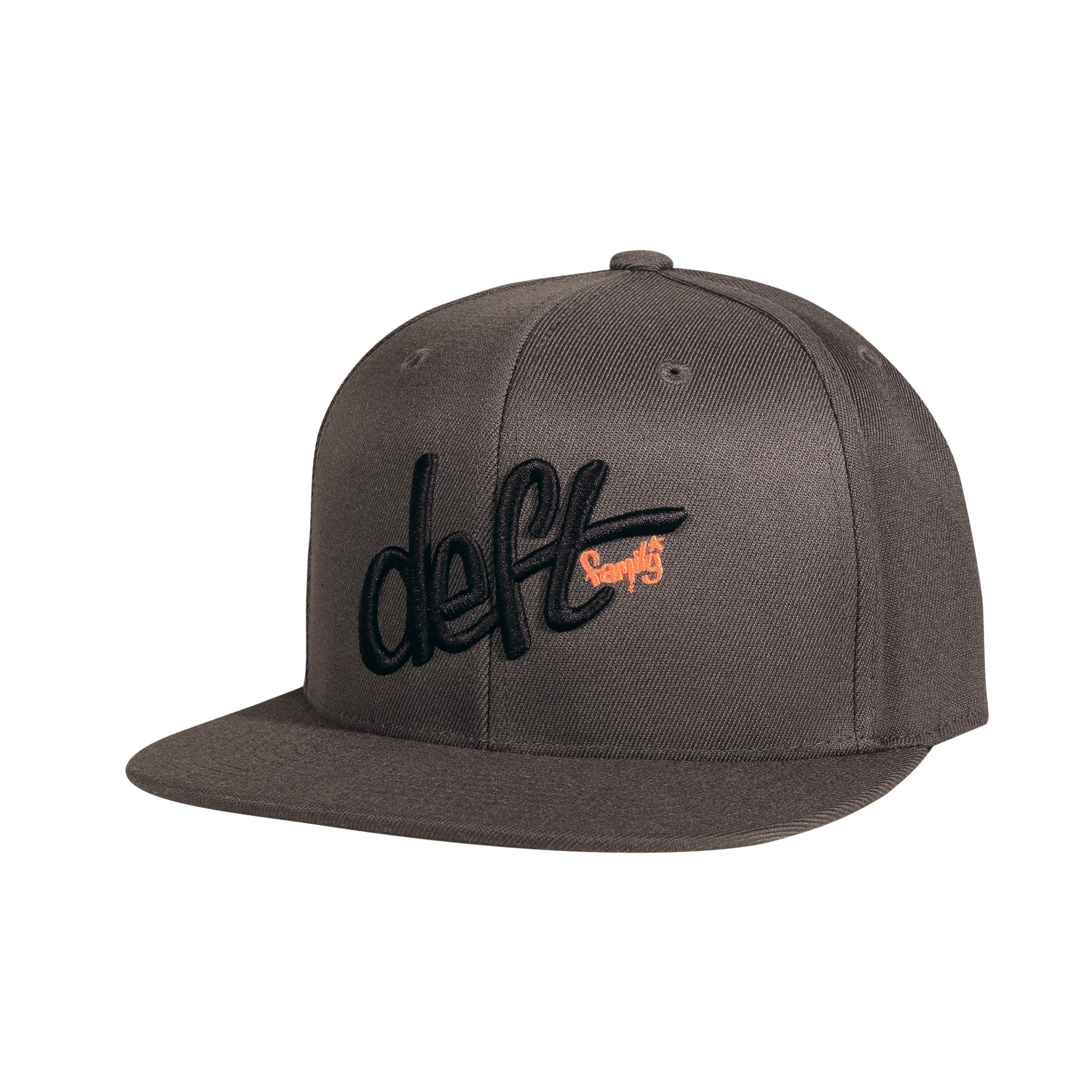 LOGO SNAP BACK HAT. DARK GRAY