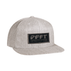 deft family patch snap back hat heather gray front