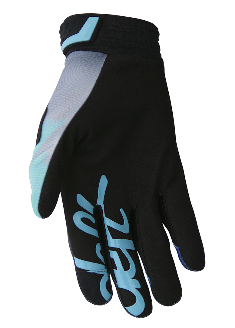 deft family motocross mx mtb bmx glove catalyst blast blue back
