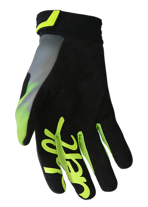 deft family motocross mtb bmx glove catalyst blast green back
