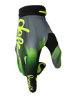 deft family motocross mtb bmx glove catalyst blast green side