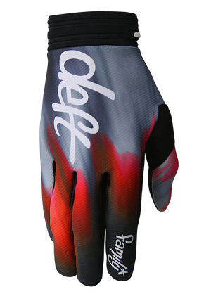 deft family motocross mtb bmx glove catalyst blast red front