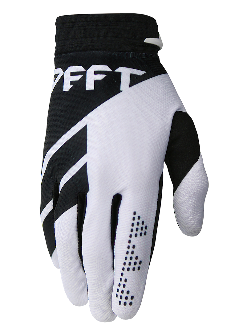 deft family motocross mtb bmx glove catalyst divide black front