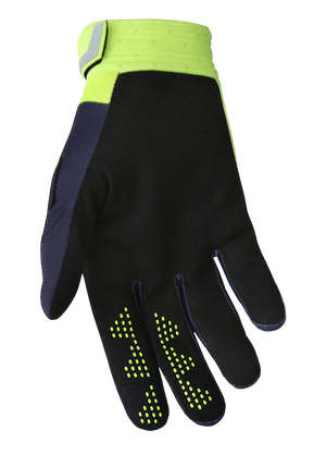 deft family motocross mtb bmx glove catalyst divide blue back