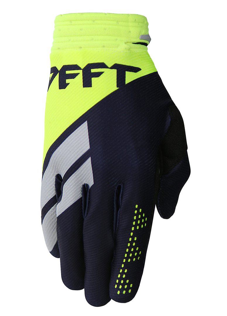 deft family motocross mtb bmx glove catalyst divide blue front