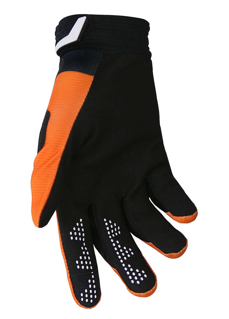 deft family motocross mtb bmx glove catalyst divide orange back