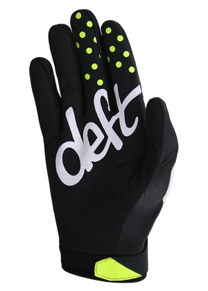deft family motocross mtb bmx glove youth eqvlnt solid black back