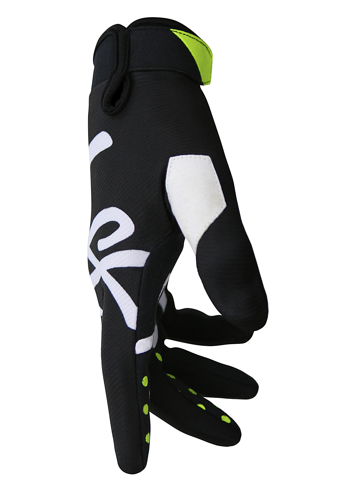 deft family motocross mtb bmx glove youth eqvlnt solid black side