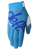 deft family motocross mtb bmx glove eqvlnt solid blue front