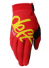 deft family motocross mtb bmx glove youth eqvlnt solid red front