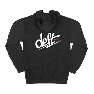 deft family youth bolt zip hoodie charcoal gray back
