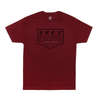 LIFESTYLE TEE. BURGUNDY