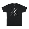 deft family motocross mtb bmx t-shirt divide black front