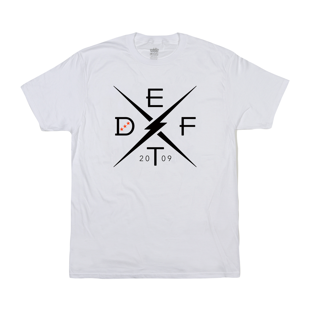 deft family motocross mtb bmx t-shirt divide white front