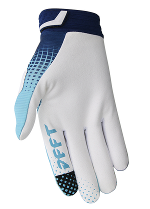 deft family motocross mtb bmx glove catalyst checker blue back