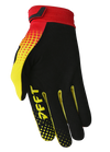 deft family motocross mtb bmx glove catalyst checker red back