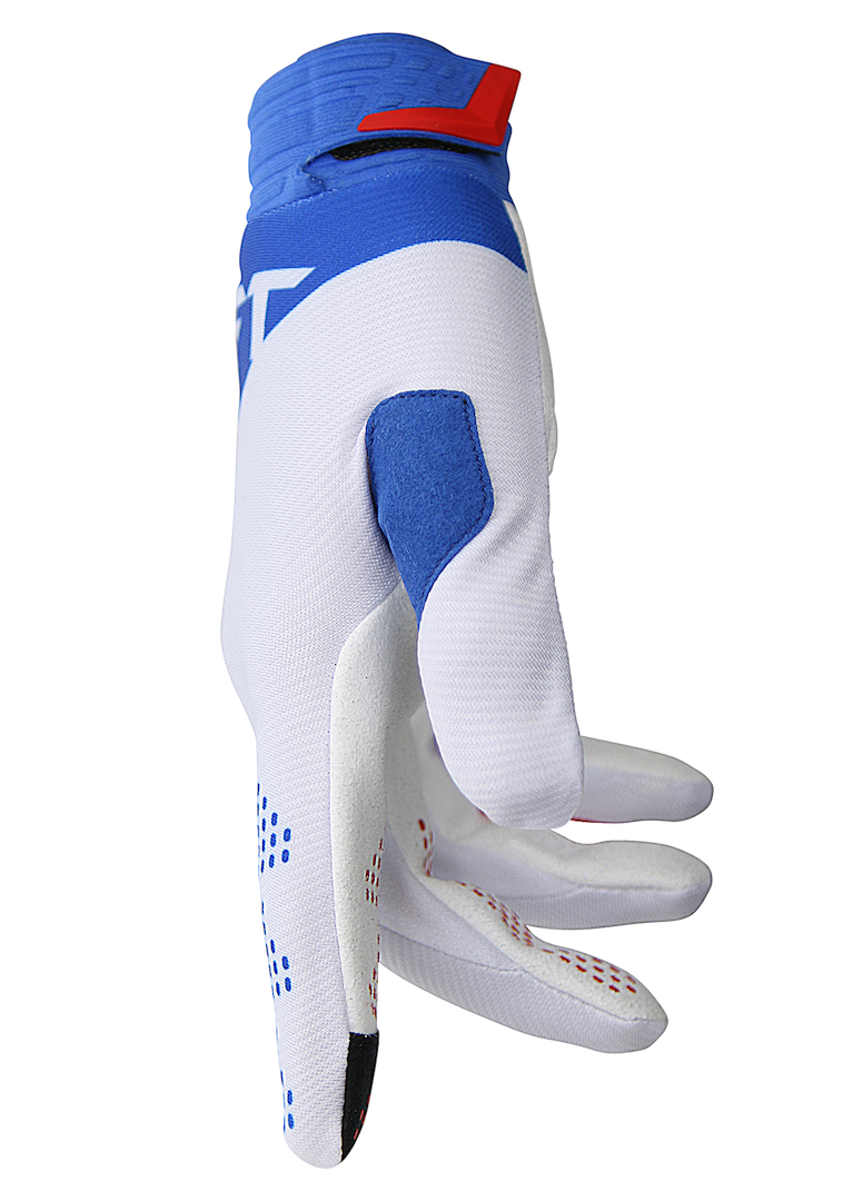 deft family motocross mtb bmx glove catalyst divide white side