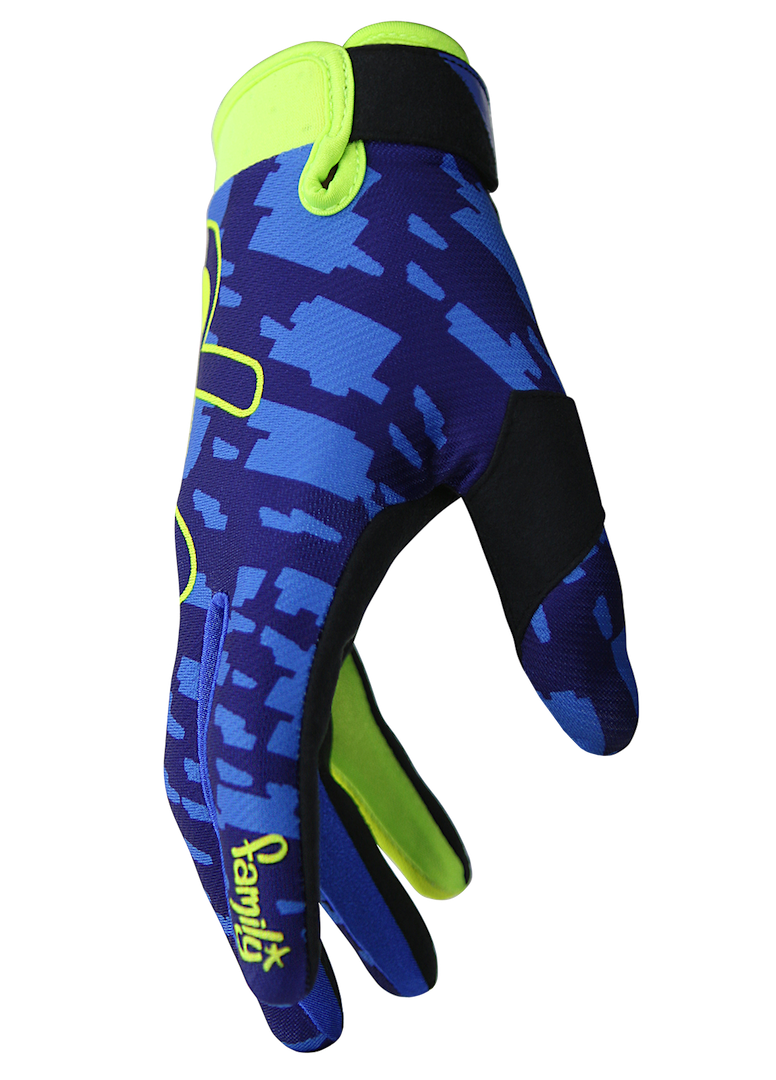 deft family motocross mtb bmx glove eqvlnt camo blue side