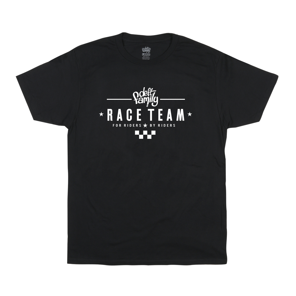 deft family racer t-shirt black front