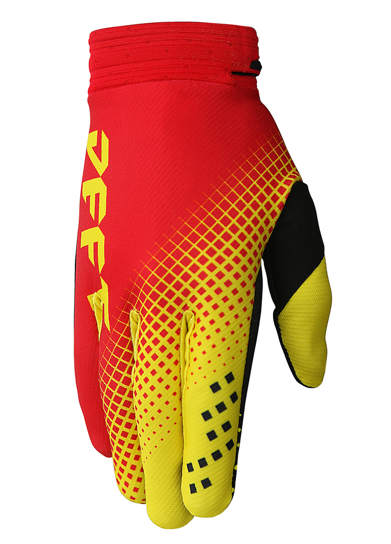 deft family motocross mtb bmx glove catalyst checker red front