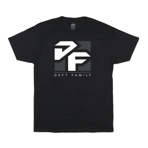 deft family motocross mtb bmx optical t-shirt black front