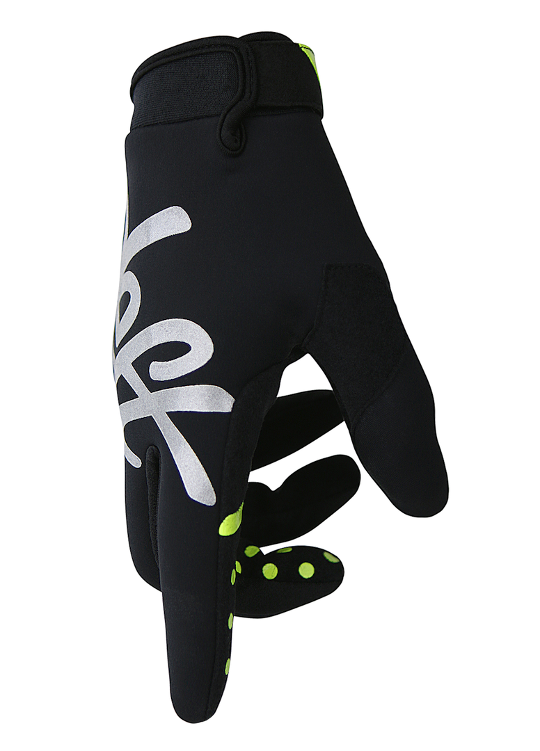 deft family motocross mtb bmx glove eqvlnt cold weather black side