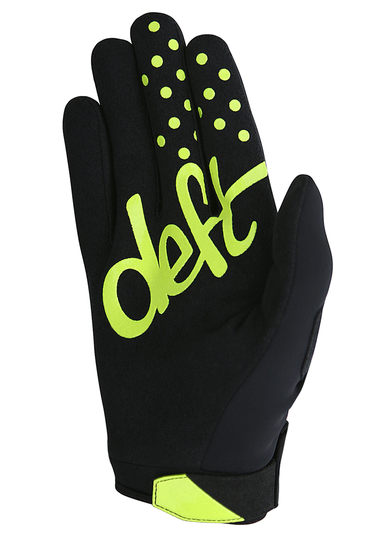 deft family motocross mtb bmx glove eqvlnt cold weather black back