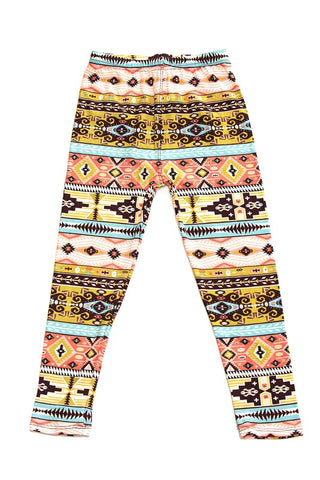 Aztec Mustard Leggings